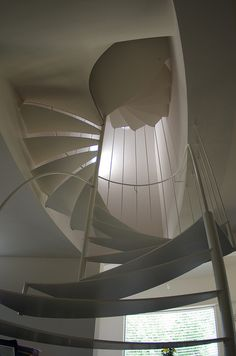 """""""TRIESTE"""" 39 _ Scala_Staircase made with metal parts coming from laser cutting…"""