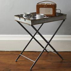 Ali&Co Modern Rustic Zinc Tray Table | Prezola - The Wedding Gift List