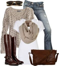 AE Sweater & Cognac Boots ♥