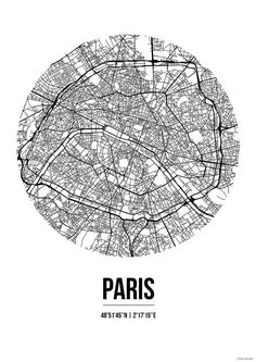 Did you know that the streets represent the largest amount of public space in a Map Paris, Paris France, Ancient Greek Sculpture, Art Carte, City Maps, Wall Prints, Screen Printing, Creations, Graphic Design