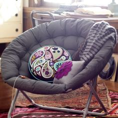 for sj in gray or black Solid Hang-A-Round Chair   PBteen