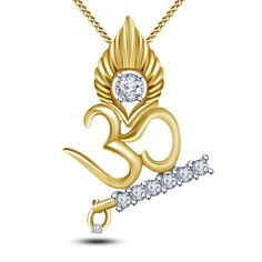 👑 Beautiful OM 🕉 Pendant using White Diamonds available in Yellow Gold, White Gold, Rose Gold and Silver 👑 👉🏻 For details of this masterpiece DM us or WHATSAPP us at 📞 👈🏻 . Ganesh Pendant, Om Pendant, Gold Pendent, Gold Chain With Pendant, Diamond Pendant, Locket Design, Jewelry Design, Om Necklace, Bracelet Crafts