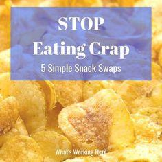 Stop Eating Crap- 5 simple snack swaps Weekly Menu Printable, Weekly Menu Template, Meal Planning Printable, Beachbody Meal Plan, Weekly Menu Planning, Portion Control, Nutrition Program, Stop Eating, Easy Snacks