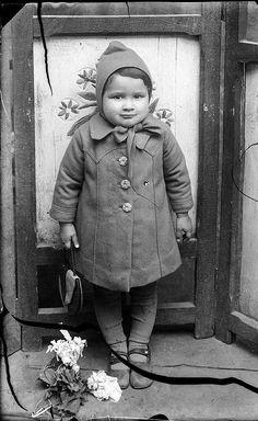 Portrait of a Romanian child Photo by Costica Acsinte #romania #vintage #blackandwhite