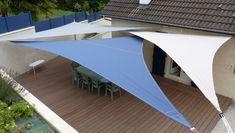Rooftop Terrace Design, Courtyard Design, Rooftop Garden, Bamboo Privacy Fence, Outdoor Privacy, Patio Sun Shades, Sun Sail Shade, Patio Sails, Solar Shades