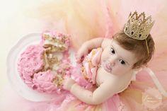 Pink, Ivory & Gold Lace Shabby Chic Vintage Infant/Toddler/Child Tutu Dress Set/Cake Smash/Photo Prop/flower girl with Headband