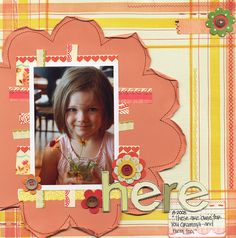 Here Gramma! - Scrapbook.com - #scrapbooking #layouts