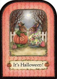 holly pond hill images susan wheeler holly pond hill rare happy halloween greeting card - Wheeler Farm Halloween
