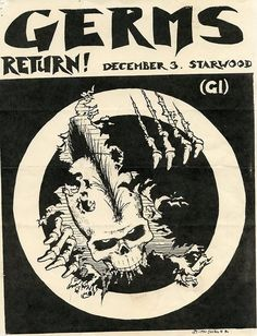 The Germs (last show, actually) | 35 Old Punk Flyers That Prove Punk Used To Be So Cool