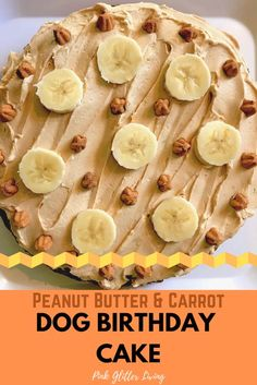 Your dog is part of your family, so show them how much you love them with this doggone delicious Peanut Butter Carrot Dog Birthday Cake! Safe for dogs (and humans) to eat. dogs How to Make a Peanut Butter and Carrot Dog Birthday Cake Dog Cake Recipes, Dog Biscuit Recipes, Dog Treat Recipes, Dog Food Recipes, Easy Dog Cake Recipe, Dog Cake Frosting Recipe, Puppy Treats, Diy Dog Treats, Healthy Dog Treats