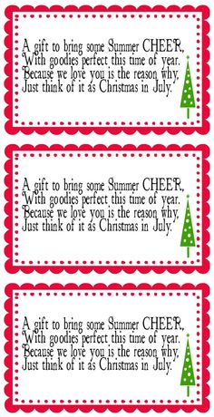 Christmas In July Birthday Party Ideas