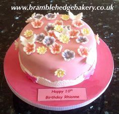 Super pink girly Victoria sponge cake