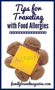 If you are planning on traveling with food allergies, here are a few tips that can help you stay safe on your trip. Always check with your doctor as well. Tree Nut Allergy, Milk Allergy, Peanut Allergy, Kids Allergies, Seasonal Allergies, Nut Free, Dairy Free, Gluten Free, Allergy Free Recipes