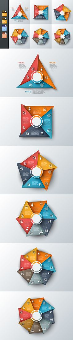 Infographics template set v.20. Business Infographic. $5.00