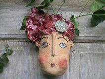 Keramik Wandtopf Tante Sophia