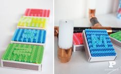 Easy Crafts For Kids and Parents - Pysselbolaget Perler Beads, Diy For Kids, Projects To Try, Match Boxes, Scrabble, Tins, Crafts, Patterns, Hama Beads Patterns