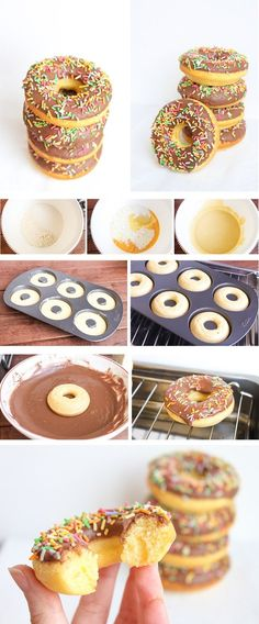 ... Donut Recipes, Cake Recipes, Dessert Recipes, Mini Donuts, Pan Dulce, Chocolate Donuts, Cakes And More, Creative Food, Macarons