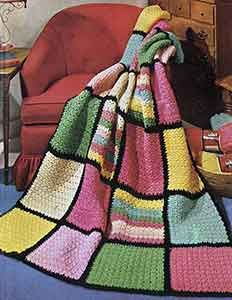 Crochet Afghan Pattern originally published in You Asked For These, Star Book 208. #afghanpatterns #crochetpatterns