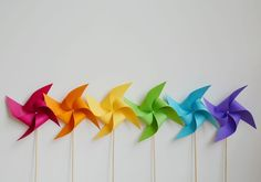 This is an EASY, step by step photo tutorial for how to make a pinwheel - so pretty! These are simple to make, they look beautiful, and they really spin!