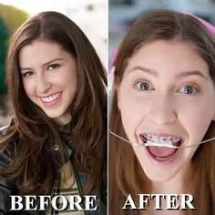 Sue Heck, before and after.
