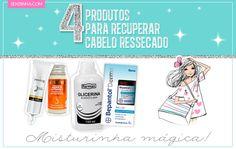 Hidratação caseira para cabelos ressecados, com 4 produtos! Milagrosa ♥ http://sehziinha.com/