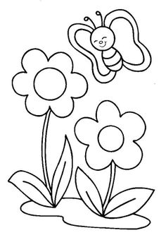 Spring Coloring Pages: Spring coloring sheets can actually help your kid learn more about the spring season. Here are top 25 spring coloring pages free Spring Coloring Pages, Flower Coloring Pages, Colouring Pages, Coloring Sheets, Coloring Books, Art Drawings For Kids, Drawing For Kids, Easy Drawings, Applique Templates