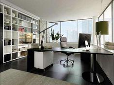 ikea-arbeitszimmer-kreative-gestaltung-rollstuhl , große fenster und dekorative pflanzen