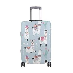 GIOVANIOR Cat Dog Colorful Paws Luggage Cover Suitcase Protector Carry On Covers