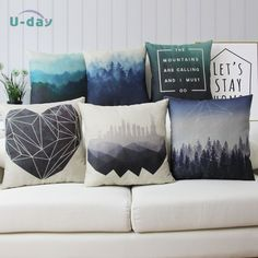 Forest cushion cover /city pillow/Sofa Home Decoration pillow cover/funda cojin/ cheap decorative almofadas #clothing,#shoes,#jewelry,#women,#men,#hats,#watches,#belts,#fashion,#style