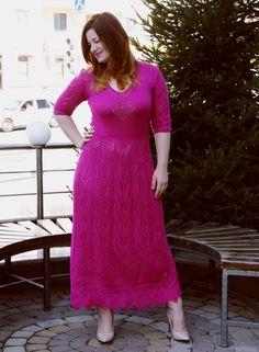 Купить Выходное ажурное платье в пол - комбинированный, однотонный, Платье нарядное, платье в пол