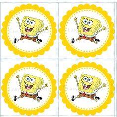 spongebob cupcake topper (printables)