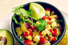 Pineapple Cilantro Salsa. Featuring produce from #lanayferme.