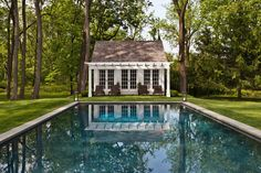 country pool house