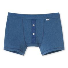 Schiesser  Dark Blue Boxer Shorts: Experts in casual comfort, Schiesser are the go to brand for beautifully made, luxurious loungewear for Men and Women. Classic slim cut, contrast navy buttons, elasticated waistband.