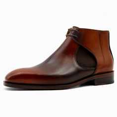 Handmade Mens's Brown Chelsea brogue Boot, Men's Leather Luxury Fashion Boot<br /><br />Upper material Genuine scow suede Leather <br />Interior Soft leather lining<br />Sole leather sole<br />leather Boots<br />Handling time 10 days