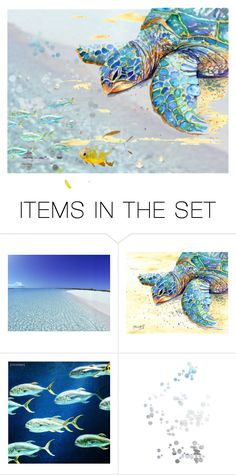 """""""Honu"""" by alzjunkyard ❤ liked on Polyvore featuring art"""