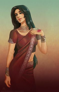 Indian Women Painting, Indian Art Paintings, Dance Paintings, Indian Illustration, Woman Illustration, Character Inspiration, Character Art, Character Design, Character Portraits