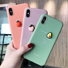 Cute Fruit Avocado Peach Orange Food Soft Silicone iPhone Case 6 7 8 Plus X XS Max XR 11 Pro Max Protective Cover Kawaii Korean Japanese sold by EeveeFinds on Storenvy