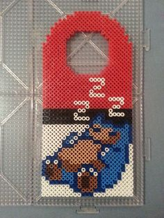 Snorlax Perler Bead Door Hanger by AshMoonDesigns on Etsy, $10.00 https://www.etsy.com/shop/AshMoonDesigns