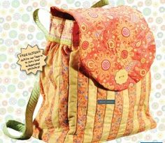 Back to school bags: backpacks, lunch packs, tote bags ~ free sewing patterns and ideas #bags
