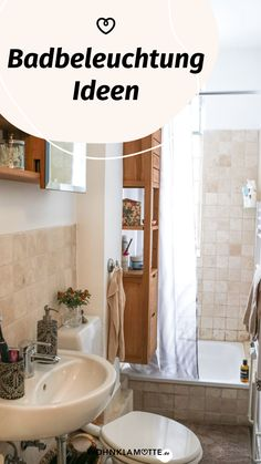 Mit den richtigen Badbeleuchtungs-Ideen lässt sich der Wohlfühlfaktor gleich verdoppeln. Dabei ist es wichtig, dass Du die perfekte Kombi aus praktischen Badleuchten für die alltäglichen Schönheitsprozeduren und stimmungsvollen Lichtquellen zum Entspannen findest. Wir zeigen Dir, was zu beachten ist. Mini Bad, Mirror, Storage, Furniture, Home Decor, Home, Mirror With Lights, Round Bathroom Mirror, Shower Cabin