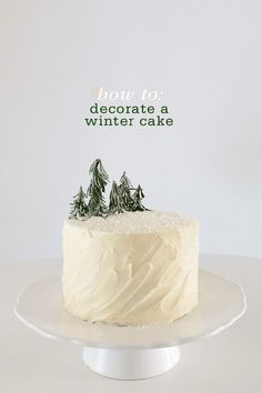How to Decorate a Winter Cake (and make it a tad healthier by swapping mayo for Greek Yogurt!) How to Decorate a Winter Cake (and make it a tad healthier by swapping mayo for Greek Yogurt! Christmas Tree Cake, Christmas Food Gifts, Noel Christmas, Christmas Candy, Christmas Desserts, Christmas Baking, Christmas Wedding, Winter Desserts, Holiday Cakes
