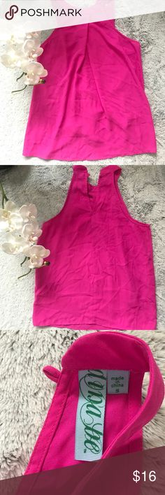 Francesca's hot pink blouse Tank top size S Tops Tank Tops