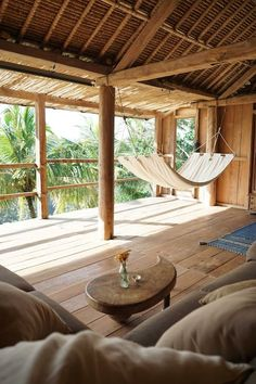 Zen Hideaway - with the world famous sunrise - Huts for Rent in Abiansemal Badung Regency, Bali, Indonesia Bamboo House Design, Zen House Design, Bahay Kubo, Bungalow, Interior And Exterior, Interior Design, House Beds, Tropical Houses, Ubud