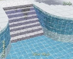 My Sims 3 Blog: Decorative Pool Stairs by Ronja