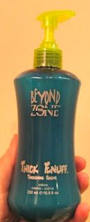 "Beyond the Zone ""Thick Enuff"" the best thing for fine/thin hair. gives great volume &  really makes hair feel/appear thicker! doesn't leave hair crunchy of stiff at all"