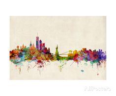 New York Skyline Photographic Print by Michael Tompsett - AllPosters.co.uk
