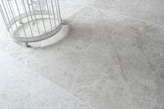Smoked Silver Honed Limestone Floor Tiles