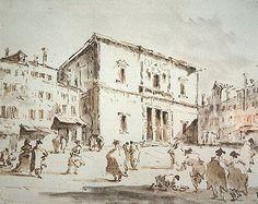 Francesco Guardi, La Fenice (watercolor, 1792)