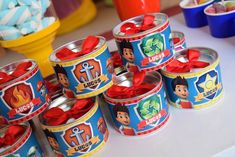 Paw Patrol Party, Coffee Cans, Ideas Party, 4 Years, Sweet Like Candy, Paw Patrol, Blue Nails, Coloring Pages, Gaming